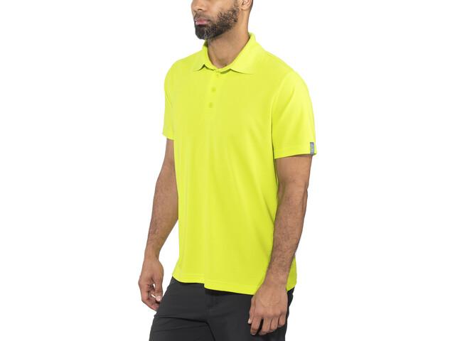 Meru Wembley Funkcjonalna koszulka polo Mężczyźni, lime punch